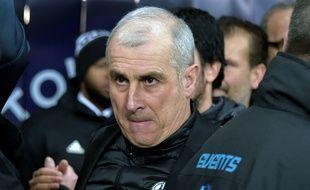 Alain Casanova, l'entraîneur du TFC, lors du match de Ligue 1 contre Lyon, le 16 janvier 2019 au Stadium de Toulouse.