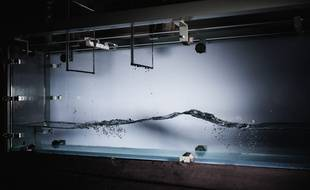 La cuve à vagues de l'Institut de mécanique des fluides  de Toulouse.