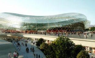 Une halle commerçante sera déployée sur 29 000 m² sous le complexe sportif.