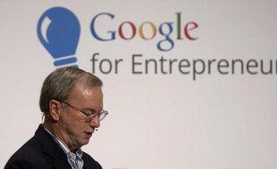 Le patron de Google, Eric Schmidt, le 10 octobre 2014, à Madrid