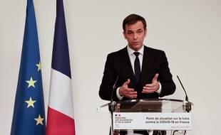 Coronavirus: Olivier Véran lors de la conférence de presse