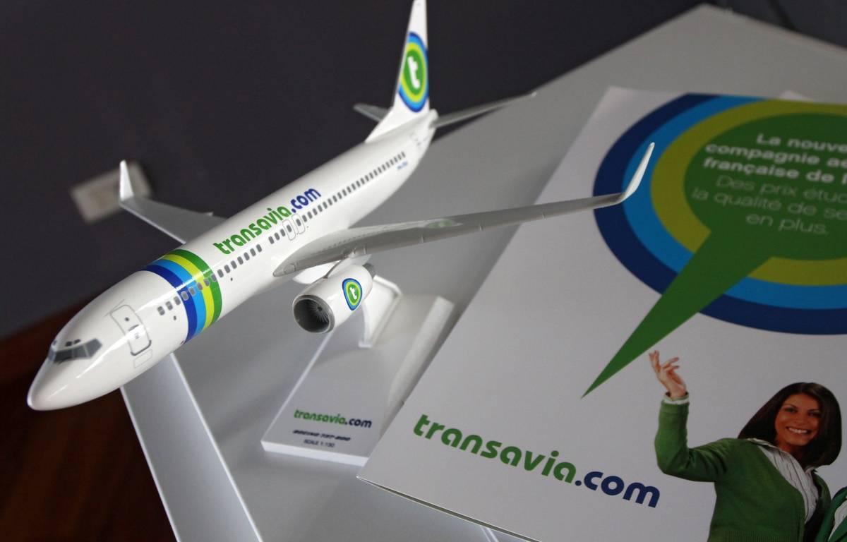 Illustration d'une maquette d'un Boeing 737-800 de la compagnie aŽérienne Transavia. – M.LIBERT/20 MINUTES