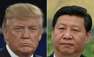 Le président américain Donald Trump en 2016 et son homologue chinois en 2012