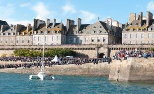 Vue des remparts de Saint-Malo.