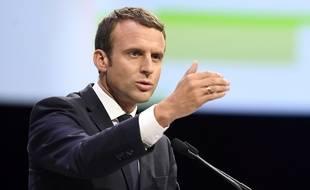Emmanuel Macron le 1er juillet 2017 à Rennes à l'occasion de l'inauguration de la ligne LGV.
