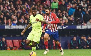Samuel Umtiti lors du match entre Barcelone et l'Atletico Madrid, le 24 novembre 2018.