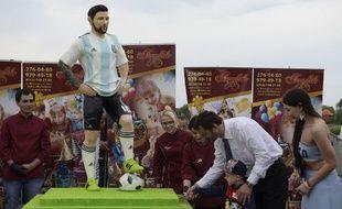 Un faux Lionel Messi en chocolat.