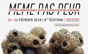 """Première affiche parue pour la 8e édition du festival du film fantastique """"Même pas peur"""" à La Rénion."""