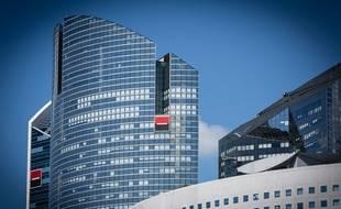 Le siège social de la banque Société Générale dans le quartier d'affaire de La Défense.