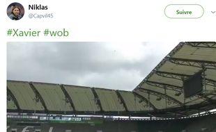 Le stade de Wolfsburg a tremblé lors du passage de la tempête Xavier.