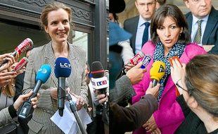 Nathalie Kosciusko-Morizet et Anne Hidalgo en campagne pour les municipales à Paris.