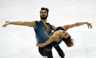Gabriella Papadakis et Guillaume Cizeron le 10 décembre 2016 à Marseille lors de la finale du Grand Prix ISU