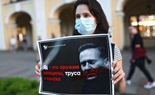 Manifestant pour Alexei Navalny