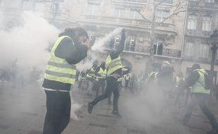 Paris, le 08 décembre 2018. Des