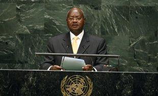 Le président ougandais Yoweri Kaguta Museveni aux Nations unies à New York le 24 septembre 2014