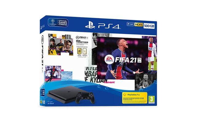 Console Pack Ps4 500 Go + Fifa 21 + Points Fut + Abonnement Ps+ 14 Jours à 289.99€ au lieu de 339.99€
