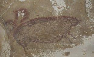 La peinture a été retrouvée en 2017 en Indonésie.