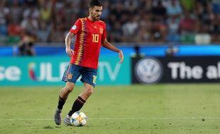 Dani Ceballos avec les espoirs espagnols.