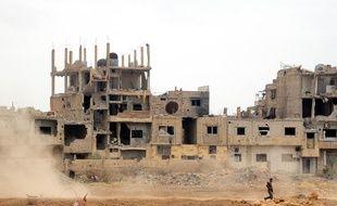 Des ruines dans Damas, en mai 2018.