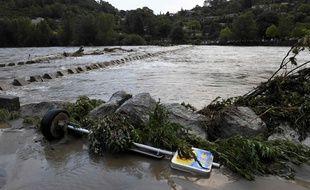 La rivière Gardon a brutalement monté ce samedi 19 septembre, entraînant l'évacuation d'un quartier. Les eaux ont depuis nettement redescendu.