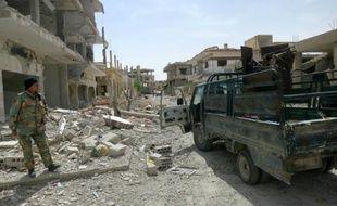 Forces pro-gouvernementales le 8 avril 2016 à al-Qaryatayn