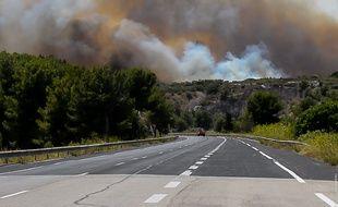 Illustration d'un feu, ici à Martigues.