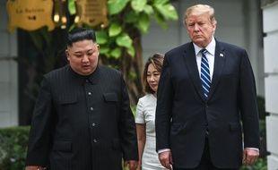 Le président américain Donald en compagnie du leader nord-coréen Kim Jong Un à Hanoï, au Vietnam, le 28 février 2019.