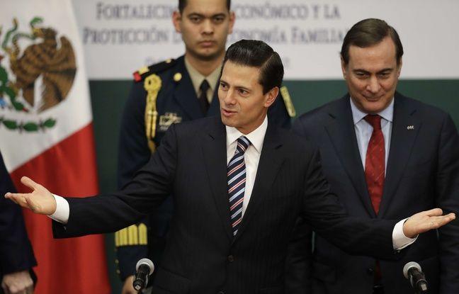 Le président mexicain Enrique Pena Nieto à Mexico, le 9 janvier 2017.