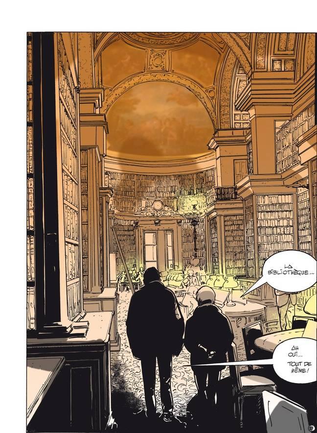 Illustration d'une planche de l'album «Le député» de Xavier Cucuel et Alexandre Coutelis (Grand Angle) septembre 2017