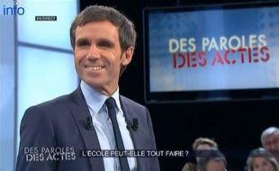 David Pujadas dans Des paroles et des actes sur France le 22 janvier 2015