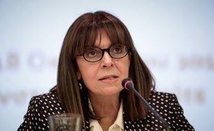 Ekaterini Sakellaropoulou, la future présidente de la Grèce.