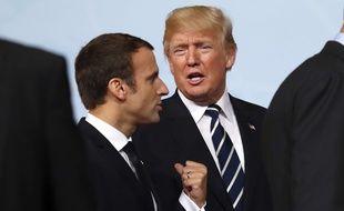 Emmanuel Macron et Donald Trump au G20, le 7 juillet 2017. Christian Charisius/dpa via AP