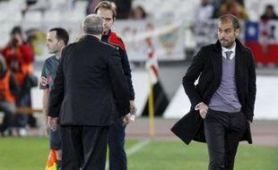 Pep Guardiola, expulsé le 7 mars 2010, lors du match contre Almeria.