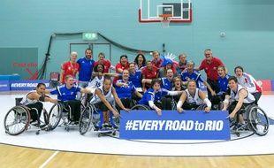 L'équipe de France paralympique de basket pour les JO de Rio 2016