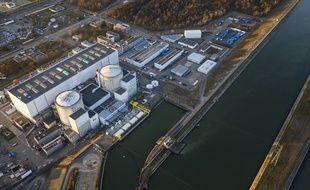 Vue aérienne de la centrale nucléaire de Fessenheim.