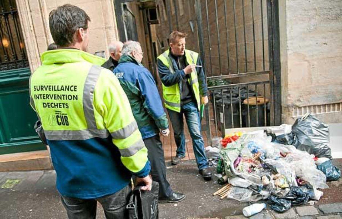 Dépôt sauvage d'ordures, dans le centre-ville de Bordeaux – S.ORTOLA/20MINUTES