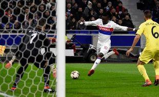 Le Lyonnais Bertrand Traoré, lors de Lyon-Villareal, jeudi 15 février.
