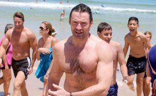 Hugh Jackman à Bondi Beach, à Sydney, en Australie, le 18 décembre 2013;