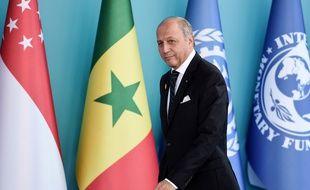 Le ministre des Affaires étrangères Laurent Fabius au sommet du G20 à Antalya (Turquie), le 15 novembre 2015.