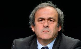 Michel Platini, président de l'UEFA, et candidat à la présidence de la Fifa, le 28 mai 2015, à Zurich.