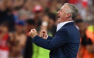 Didier Deschamps après la victoire des Bleus face à l'Allemagne, le 8 juillet 2016.
