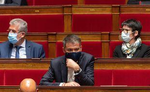 Olivier Faure, le premier secrétaire du PS, à l'Assemblée nationale.