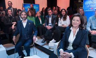 Cédric Villani et Agnès Buzyn en mars 2020.