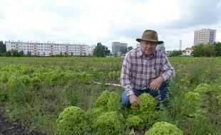 René Kersanté, 75 ans, passe la main à deux structures pour l'installation d'une ferme urbaine à Saint-Denis (Illustration).