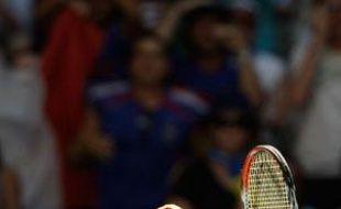 La Française Alizée Cornet exulte lors de sa victoire contre la Slovaque Hantuchovalors du troisième tour de l'Open d'Australie le 23 janvier 2009.