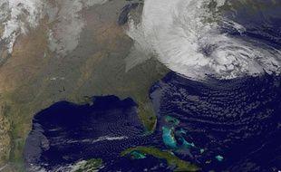 Image satellite de la tempête Sandy qui touche les Etats-Unis, le 30 octobre 2012.