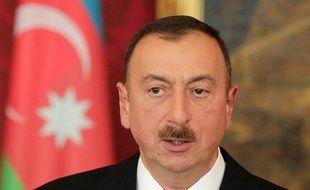 Le président de l'Azerbaïdjan, Ilham Aliye, le 13 mai 2013, àVienne.