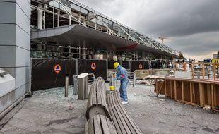 L'aéroport de Bruxelles-Zaventem, le 23 mars, au lendemain des attentats.