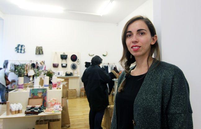Kahina Drider, créatrice de Rennes à coup de coeur, a ouvert un popupstore de Noël rue Hoche à Rennes.
