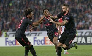 Olivier Giroud profite de la Ligue Europa pour briller.